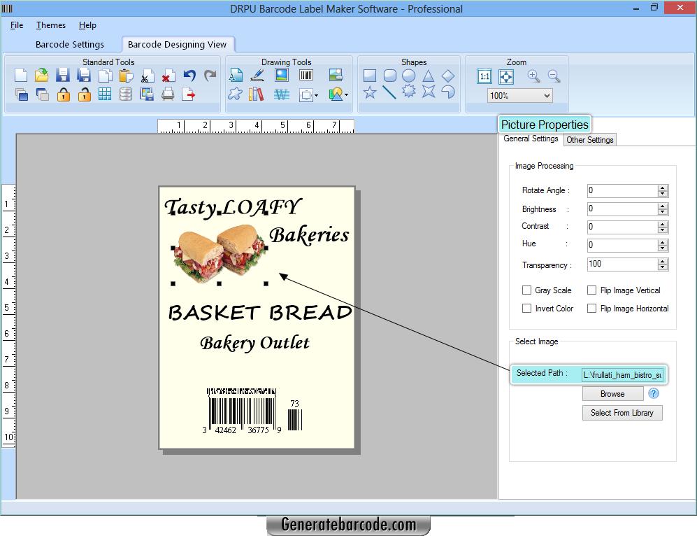 Barcode Generator Software Professional - GenerateBarcode